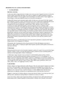 Riassunti di Propedeutica al latino universtario, Traina.