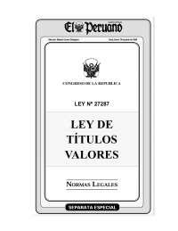 LEY DE TÍTULOS Y VALORES