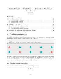 Esercitazione Statistica