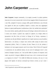 John Carpenter - L'orrore del normale