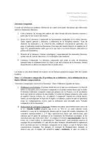 Temas 1 y 2 Literatura Comparada
