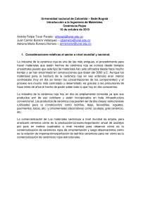 Cerámicos rojos, descripción, usos, aplicaciones,fabricación y presencia en Colombia