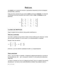 Matrices. de seleccion producto