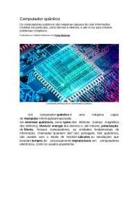 O Computador Quantico