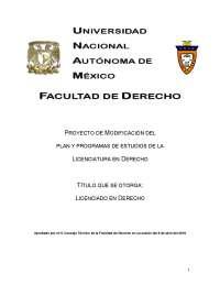 Plan de estudio 2011_UNAM