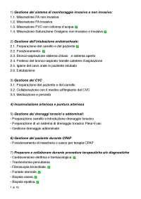 Procedure infermieristiche 3° anno