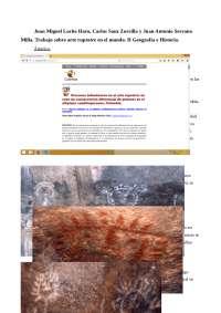 Trabajo Arte Rupestre Prehistoria 2º curso