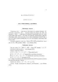 Matematika prve godine na masinskom fakultetu