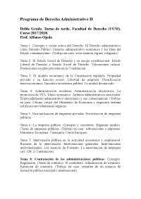Programa de derecho adm ii