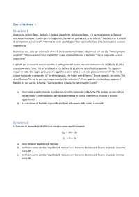 Esercitazione 1 Microeconomia