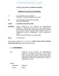 INFORME DE CALENDARIO ACELERADO DE OBRA