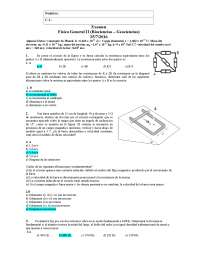 Exámenes de física Facultad de Ciencias
