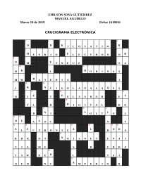 Crucigrama Electronica
