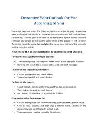 Customize Your Outlook for Mac According to You
