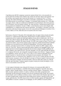 Riassunto Italo Svevo