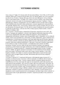 Riassunto Vittorio Sereni