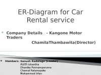 er diagrams fr car rental services