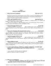 communication engineering EEE question bank