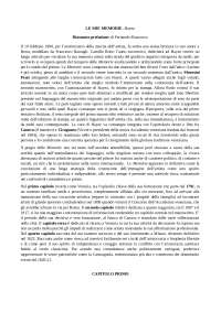 """Riassunto """"Le mie memorie"""" - Francesco Hayez"""