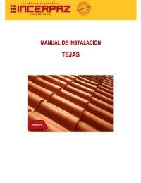 Manual de instalación de tejas