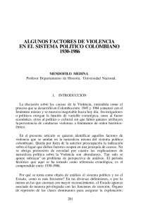 Algunos Factores de violencia en el sistema político colombiano