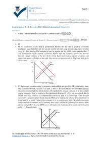 Economics Past Paper