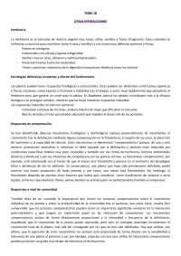 Otras interacciones. Tema 18 Ecología. Prof. Isabel Castro