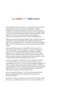 Cirella, colonia del mediterraneo