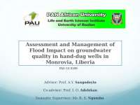 Floods Effects on Water quality