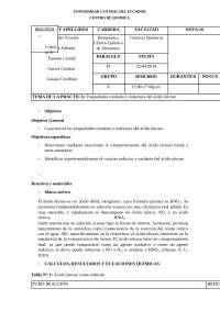 PROPIEDADES OXIDANTE Y REDUCTORA DEL ÁCIDO NITROSO