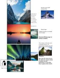 Canada Travel Brochure