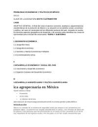 Problemas economicos y politicos de mexico