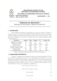 CONTROLE DE VELOCIDADE E TORQUE DE UM MOTOR CC