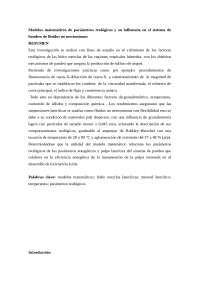 Modelos matemáticos de parámetros reológicos y su influencia en el sistema de bombeo de fluidos no newtonianos