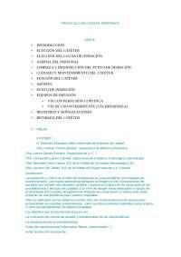 protocologo de cater periferico