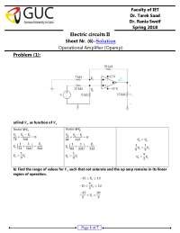 electric circuits 2 sheet 6