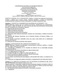 Programa de derecho económico