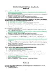 pedagogia generale- test di autovalutazione