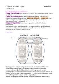 Lezione di apprendimento linguistico