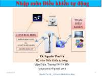 Automatic Control Theory in Vietnamese