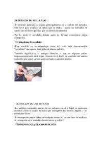 Definicion  De Corrupcion , Asocienacion ilicita y delincuencia