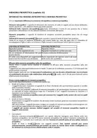MEMORIA PROSPETTICA (RIASSUNTO CAPITOLO 15 DEL LIBRO MEMORIA DI BADDELEY)
