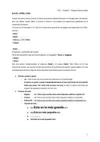 Apuntes sobre lenguaje html