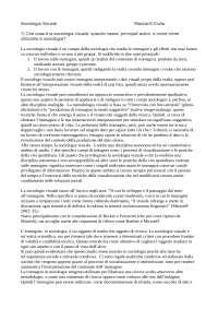 Sociologia Visuale relazione d'esame Gennaio 2019