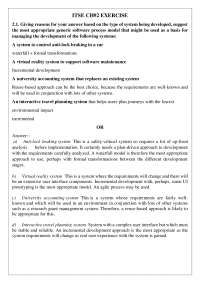 Introduction to software engineering Chapter 2 solved Exercise