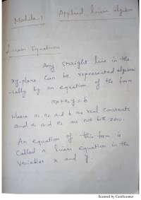 Hand written notes on module 1