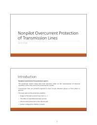 non pilot protection pdf