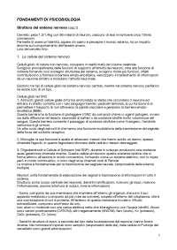 Appunti fondamenti di psicobiologia