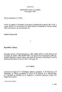 Sentenza Corte Ue Francovich