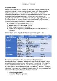 Rocce evaporitiche: descrizione